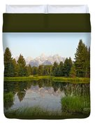 Beaver Pond At Schwabacher Landing Duvet Cover