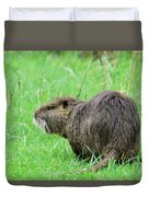 Beaver With Whiskers Duvet Cover