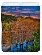 Beavers Bend Twilight Duvet Cover