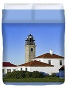 Beavertail Lighthouse Rhode Island Duvet Cover