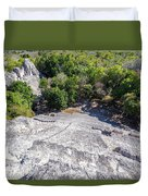 Becan Pyramids Looking Down Duvet Cover