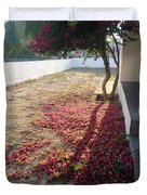 Bed Of Bougainvillea Duvet Cover