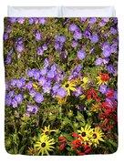 Bed Of Flowers Duvet Cover