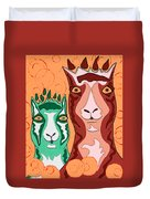 Bedazzled Llamas Duvet Cover