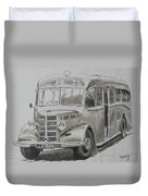 Bedford Ob Coach Of The Forties. Duvet Cover