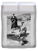 Bedouin Falconer, C1910 Duvet Cover