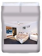Bedroom With River View Duvet Cover
