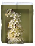 Bee And Blossoms Duvet Cover