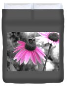 Bee And Cone Flower Duvet Cover