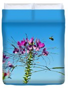 Bee And Flower Duvet Cover
