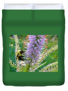 Bee And Its Lavender Delight Duvet Cover
