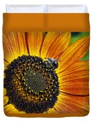 Bee And Sunflower. Duvet Cover
