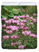 Bee Balm Garden Duvet Cover