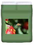 Bee, Bumblebee, Flying To A Flower, In Marseille, France Duvet Cover