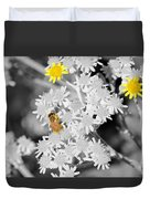 Bee Colored Duvet Cover