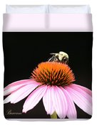 Bee Coneflower Duvet Cover