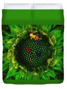 Bee Flower Duvet Cover