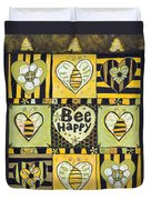 Bee Happy Duvet Cover by Jen Norton
