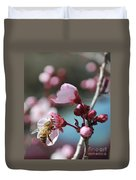 Bee In A Blossom Duvet Cover