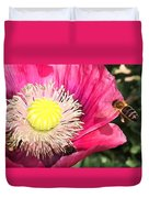 Bee In A Flower Duvet Cover