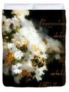 Bee In Crape - Verse Duvet Cover
