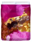 Bee In The Rugosa Duvet Cover