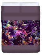 Bee Insect Close Macro Flower  Duvet Cover