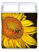 Bee On A Sunflower Duvet Cover