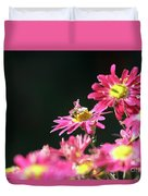 Bee On Flower Spring Scene Duvet Cover