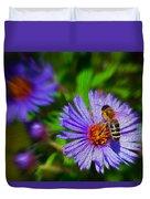 Bee On Lavender Flower Duvet Cover