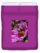 Bee On Purple Flower Duvet Cover