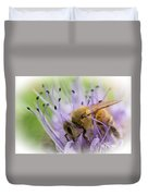 Bee On Purple Duvet Cover