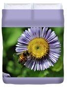 Bee On Purple Petals Duvet Cover