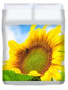 Bee On Sunflower Duvet Cover