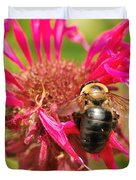 Bee On Tea Bloom Duvet Cover