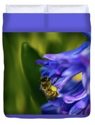 Bee On The Hyacinth Duvet Cover