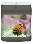 Bee On Yellow Coneflower Duvet Cover