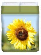 Bee On Yellow Sunflower Duvet Cover