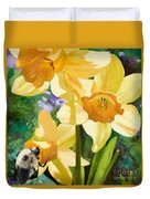 Bee Open By Marilyn Nolan-johnson Duvet Cover