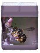 Bee Sipping Nectar Duvet Cover