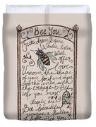 Bee You Duvet Cover