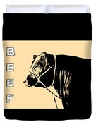 Beef Poster Duvet Cover