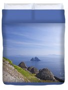 Beehive Stone Huts, Skellig Michael County Kerry Ireland Duvet Cover