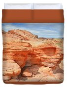 Beehives Above Wash 3 In Valley Of Fire Duvet Cover