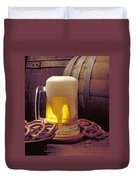 Beer And Pretzels Duvet Cover