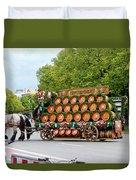 Beer Barrels On Cart Duvet Cover