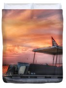 Beer Can Island Sunset Duvet Cover