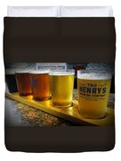 Beer Flight Duvet Cover by April Wietrecki Green