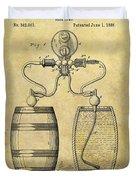Beer Pump Patent Duvet Cover