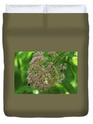 Bees On Joe-pyed Weed Duvet Cover